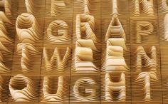 prachtige 3D typografie