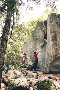 Bouldering! I hope I am not the only one who adores the sensation of getting skin the size of quarters ripped off their hands :)
