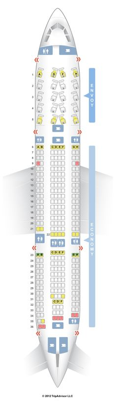 SeatGuru Seat Map US Airways Airbus A330-200