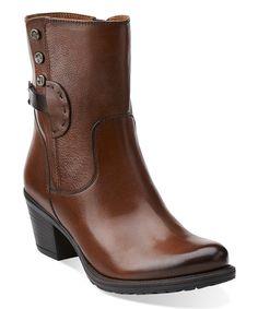 Look at this #zulilyfind! Cognac Maymie Skye Leather Bootie by Clarks #zulilyfinds