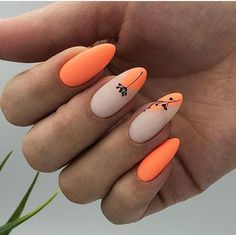 Semi-permanent varnish, false nails, patches: which manicure to choose? - My Nails Nails Now, Fun Nails, Pretty Nails, Orange Nail Art, Orange Nails, Fabulous Nails, Perfect Nails, Cute Acrylic Nails, Matte Nails