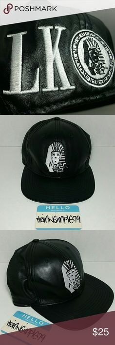 7710de86f93ce Last Kings Leather Snapback Hat Great Condition Last Kings Leather  Adjustable Snapback Hat (black velvet