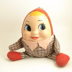 Vintage Humpty Dumpty Doll  1960s  Mrs by VintageMarketPlace, $16.00
