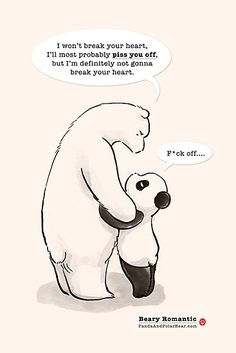 'Beary Romantic' Photographic Print by Panda And Polar Bear Happy Birthday Bear, Happy Birthday Drawings, Polar Bear Drawing, Cute Panda Cartoon, Panda Lindo, Panda Bebe, Cartoon Caracters, Cute Bear Drawings, Baby Panda Bears