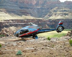 Helicopter ride into the Grand Canyon