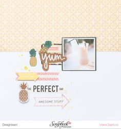 Yum - a layout with Basic Grey's Sunkissed collection - V-tyylillä