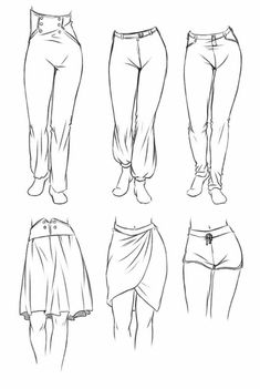 ( Fabric / Clothes / Pants / Shorts / Skirts ) #Drawingtips