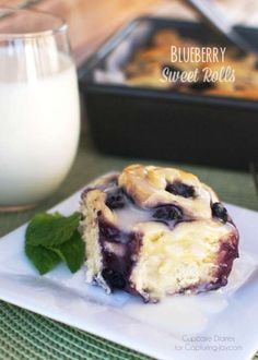 Blueberry Sweet Rolls Recipe - The perfect breakfast for a spring morning.