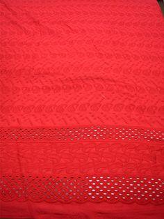 Rosa Öse gestickte Baumwollgewebe mit Rand von Indianlacesandfabric