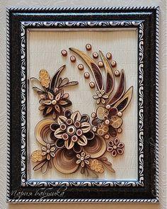 Картина панно рисунок Квиллинг квиллинг Закружила поздняя осень Бумажные полосы фото 1