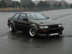 AE85 Corolla Ae86, Toyota Corolla, Toyota Cars, Toyota Supra, Classic Motors, Classic Cars, Japanese Domestic Market, Mitsubishi Lancer Evolution, Japan Cars