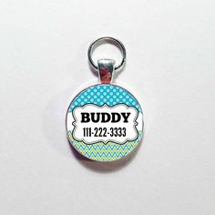 CUTE DOG ID Tag with dog's name and a contact number