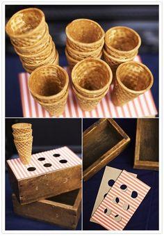 caja para sostener los conos