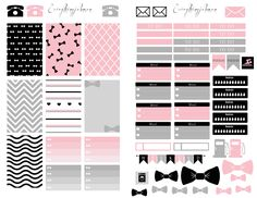 Free Printable Download: Pink and Grey. Made to use with the Happy Planner. #Planner #HappyPlanner Hope you enjoy!