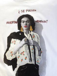 Frida Kahlo  interprets Patti Smith  T shirt  Painting 3D #fridakahlo #frida