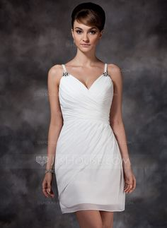 Homecoming Dresses - $119.99 - Sheath Sweetheart Short/Mini Chiffon Homecoming Dress With Ruffle Beading (022010333) http://jjshouse.com/Sheath-Sweetheart-Short-Mini-Chiffon-Homecoming-Dress-With-Ruffle-Beading-022010333-g10333