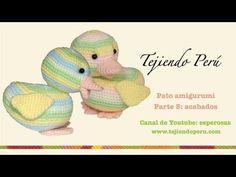 Pato amigurumi (Parte 5: acabados) Crochet Crafts, Crochet Projects, Free Crochet, Hello Kitty, Cuddle Buddy, Crochet Videos, Amigurumi Toys, Crochet Animals, Cuddling
