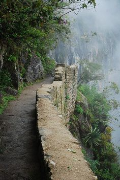Camino del Inca , Cusco, Peru Este local me lembra Poços de Caldas - Minas Gerais -   Brasil