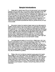 6th grade compare and contrast essay example