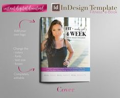 Ebook Template - Create an eye-catching Fitness e-book that you can deliver to your clients or share with your fitness group or in your weight-loss program! You can use it as a Lead Magnet or Content Upgrade that will help boost any fitness, wellness or health related blog post. This is a fully-editable InDesign Template that will allow you to edit the styles, text, layout and other features as you like. Click to learn more! #CreatingAnEbook