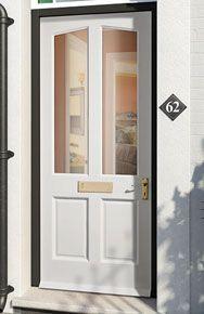 Richmond M Pre-glazed Clear Hardwood External Door External Timber Doors, Glazed External Doors, Wooden Front Doors, Exterior Doors, Door Design, Glass Panels, Windows And Doors, Home Renovation, Decorating Tips