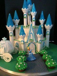 Cinderella Casltle ~ rose bushes are mini cupcakes