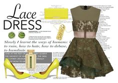 """Lace dress"" by giampourasjewel ❤ liked on Polyvore featuring Alex Perry, Steve Madden, Henri Bendel, L'Artisan Parfumeur and lacedress"