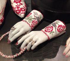 Karin Ferner, Leksands kulturhus 2015 Folklore, Sweden, Cuffs, Anna, Textiles, Bracelet, Embroidery, Silver, Handmade