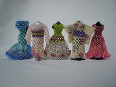 Miniature beaded dresses