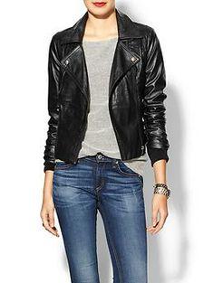 Ark & Co. Vegan Leather Moto Jacket   Piperlime