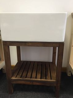 Traditional Wooden Stand For Belfast Butler Sink - Solid Wood Stained Dark Oak