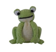 Small Knit Toy Frog