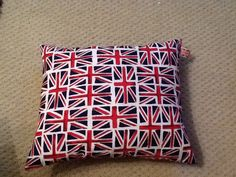 Union Jack printed cushion. Love the colours of our flag