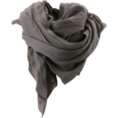 Bruuns Bazaar Scarf ❤ liked on Polyvore featuring accessories, scarves, sciarpe, grey, grey scarves, wool shawl, grey shawl, gray scarves and gray shawl