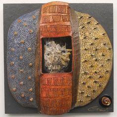"vicki grant ceramics | VICKI GRANT 12357 - ""Windows to the Earth"" Series Porcelain and mixed ..."