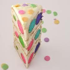 Polka dot taart speciale binnenkant