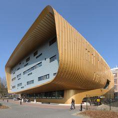 UMCG University Hospital, Groningen, The Netherlands Unusual Buildings, Interesting Buildings, Amazing Buildings, Modern Buildings, Parametric Architecture, Cultural Architecture, Amazing Architecture, Interior Architecture, Building Structure