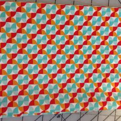 Joel Dewberry Notting Hill -Fat Quarter -  Hourglass PWJD063 in Poppy - Small red, teal and gold - geometric shapes