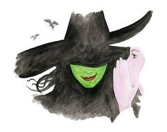 Wizard of Oz, Wicked Witch Musical Watercolor Poster Print, Watercolor Painting, Watercolor Art Kids Decor