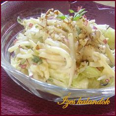 Salad Shop, Cold Dishes, Hungarian Recipes, Healthy Life, Meal Prep, Cabbage, Sandwiches, Paleo, Food And Drink