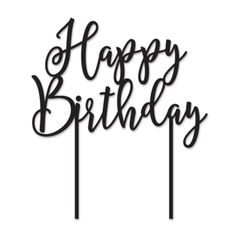 Happy Birthday Acrylic Cake Topper | The TomKat Studio