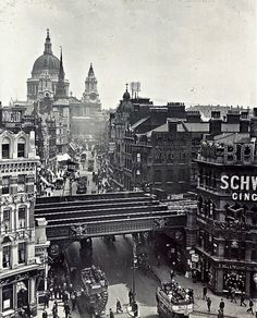 An Old Photo of Ludgate Circus Central London England