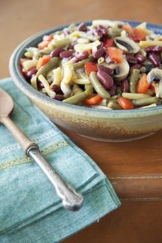 "Three Bean Salad                       Make no ""beans"" about it, this salad is great for Church gatherings, or Sunday supper side."