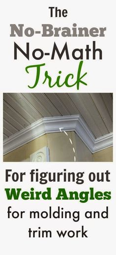 Great tip! A really easy way to figure out tricky angles when you're installing…