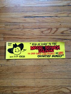 Vintage Head on Down to The Middle Branch Saloon For Good Times Good People and Live Country Music Bumper Sticker by VintageVanShop on Etsy