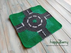 Happy Berry Crochet: How to Crochet a Roundabout - Road Play Mat CAL