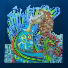 Sogno 50x50 - acrilico su cartone telato