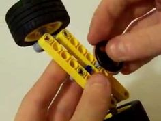 A LEGO car with differential mechanism and steering system 110925 (樂高仿真車) - YouTube