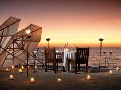 cena romantica in spiaggia