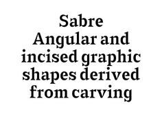 typographic-journal: Sabre Typeface by Gareth Hague http://ift.tt/1o2bnS7 | Visualgraphc